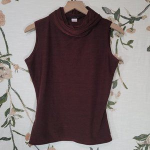 🐰 American City Wear Maroon Cowl Neck  Blouse